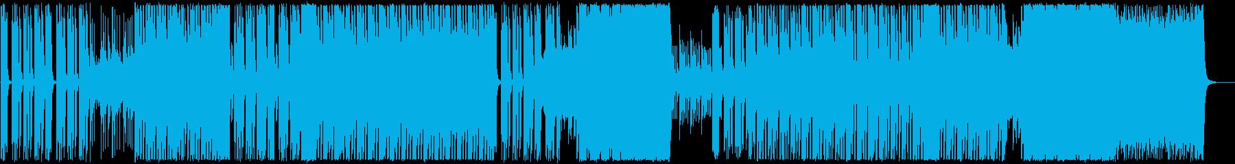 ハイテンポ、パワフルなトランスの再生済みの波形