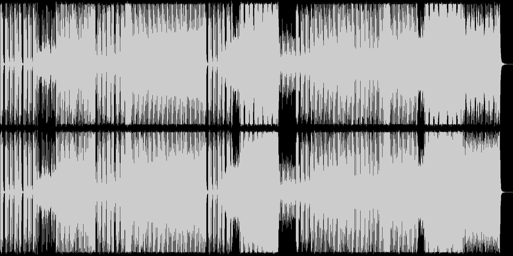 ハイテンポ、パワフルなトランスの未再生の波形