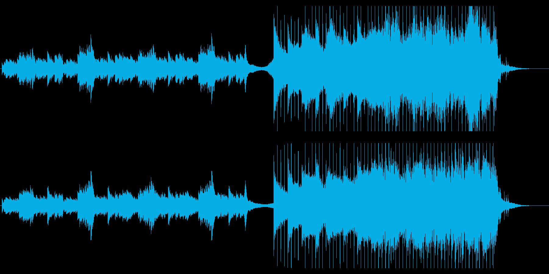 リズム隊とストリングスのグッとくるBGMの再生済みの波形
