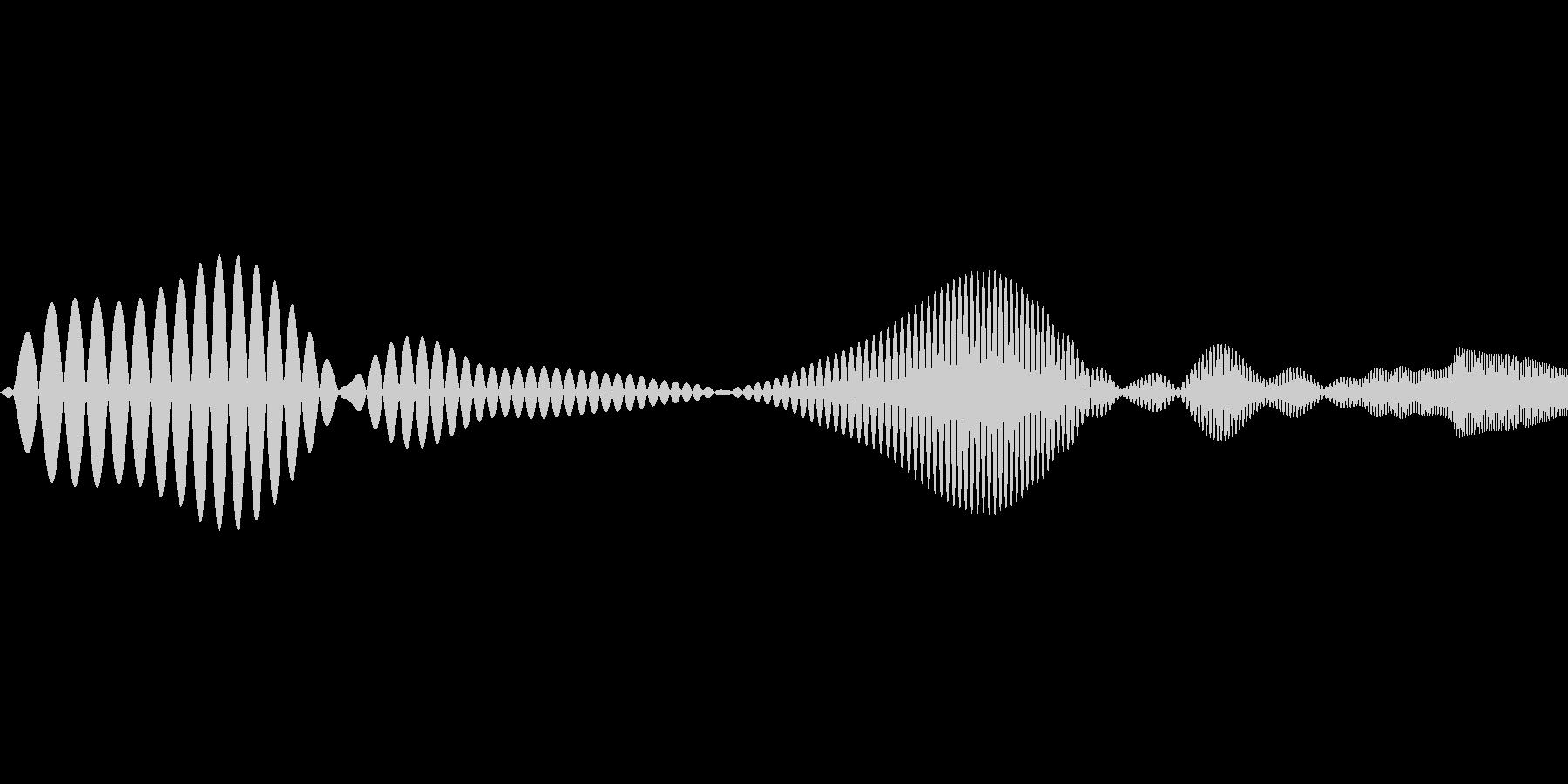 ポップなシステム音の未再生の波形