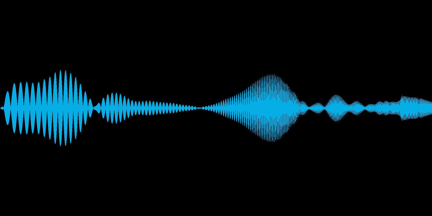 ポップなシステム音の再生済みの波形