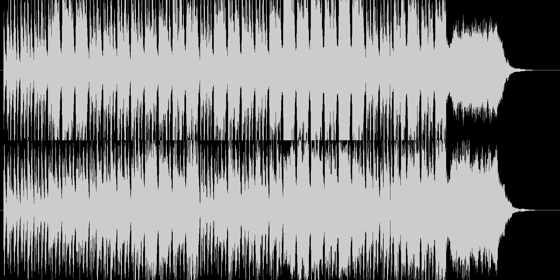 ポップなちょっとオシャレなCM風の未再生の波形