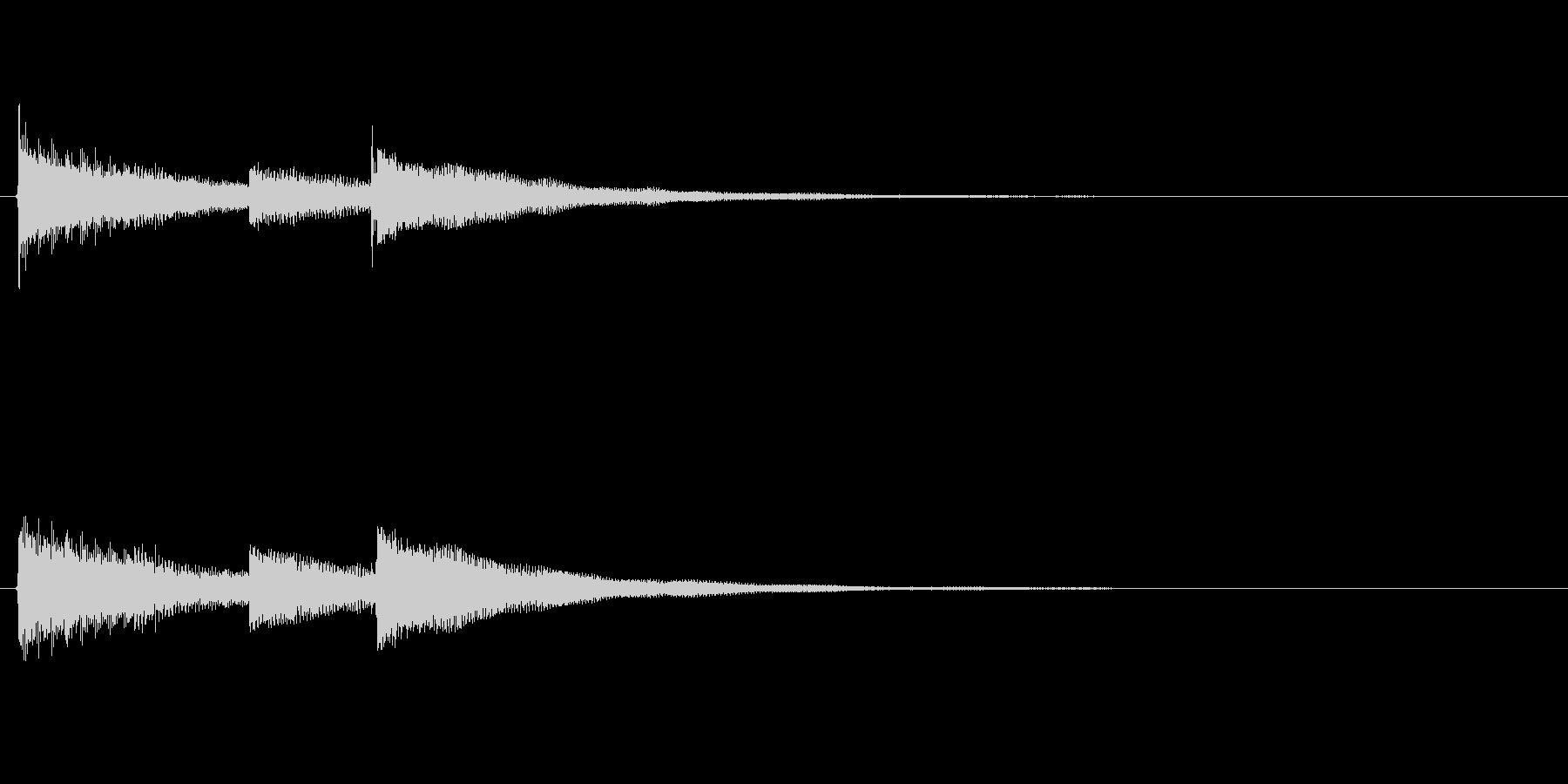 最後に企業名が出た時のサウンドロゴ03の未再生の波形