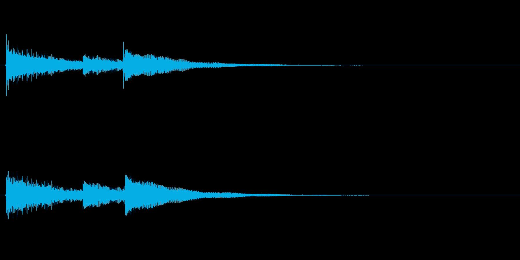 最後に企業名が出た時のサウンドロゴ03の再生済みの波形