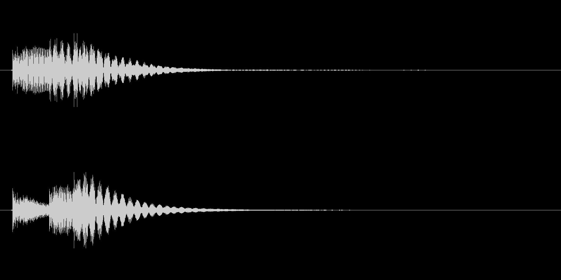 決定ボタンクリック時などの決定音。の未再生の波形