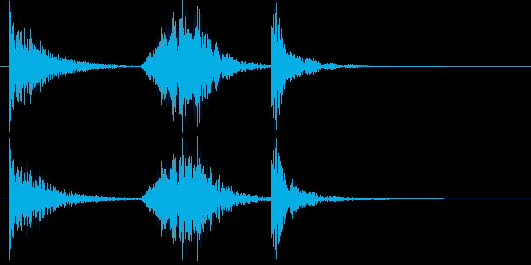 コソコソ動く様子を表すショートソングの再生済みの波形