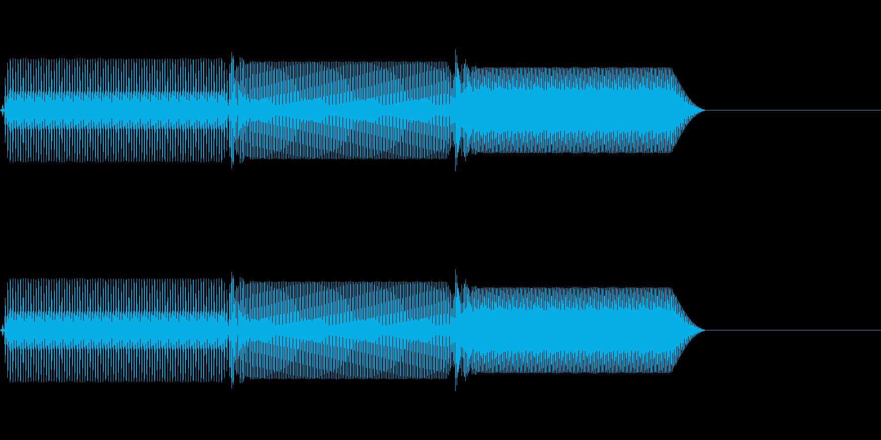 ピロリッ!! ファミコン風の決定音。の再生済みの波形
