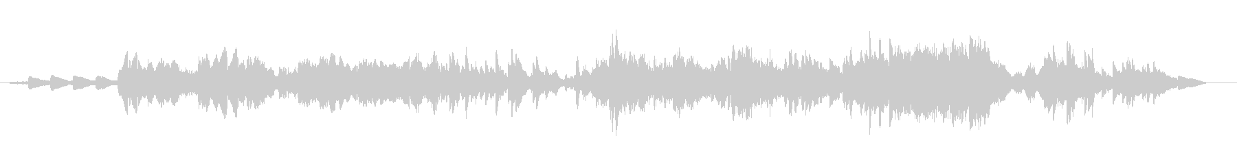 アイスランド民謡を生ヴァイオリンでの未再生の波形