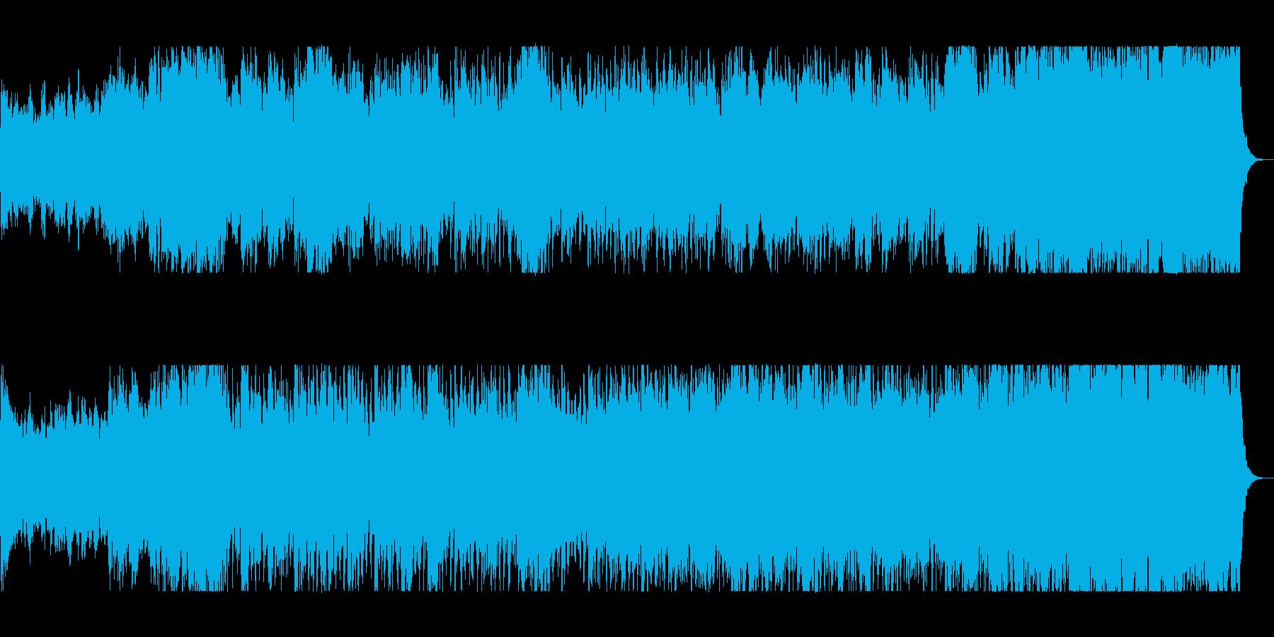 勢いと華やかな管打楽器シンセサウンドの再生済みの波形