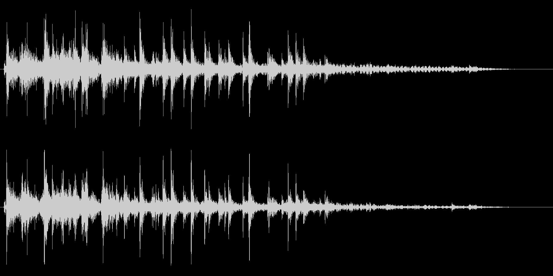 ジョジョジョ(水を流す音)の未再生の波形