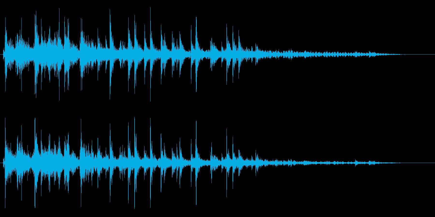 ジョジョジョ(水を流す音)の再生済みの波形
