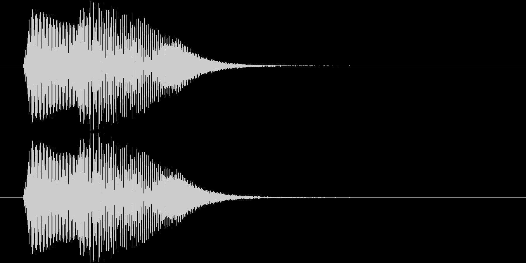 ポヨインッ アイテム獲得や出現などの未再生の波形