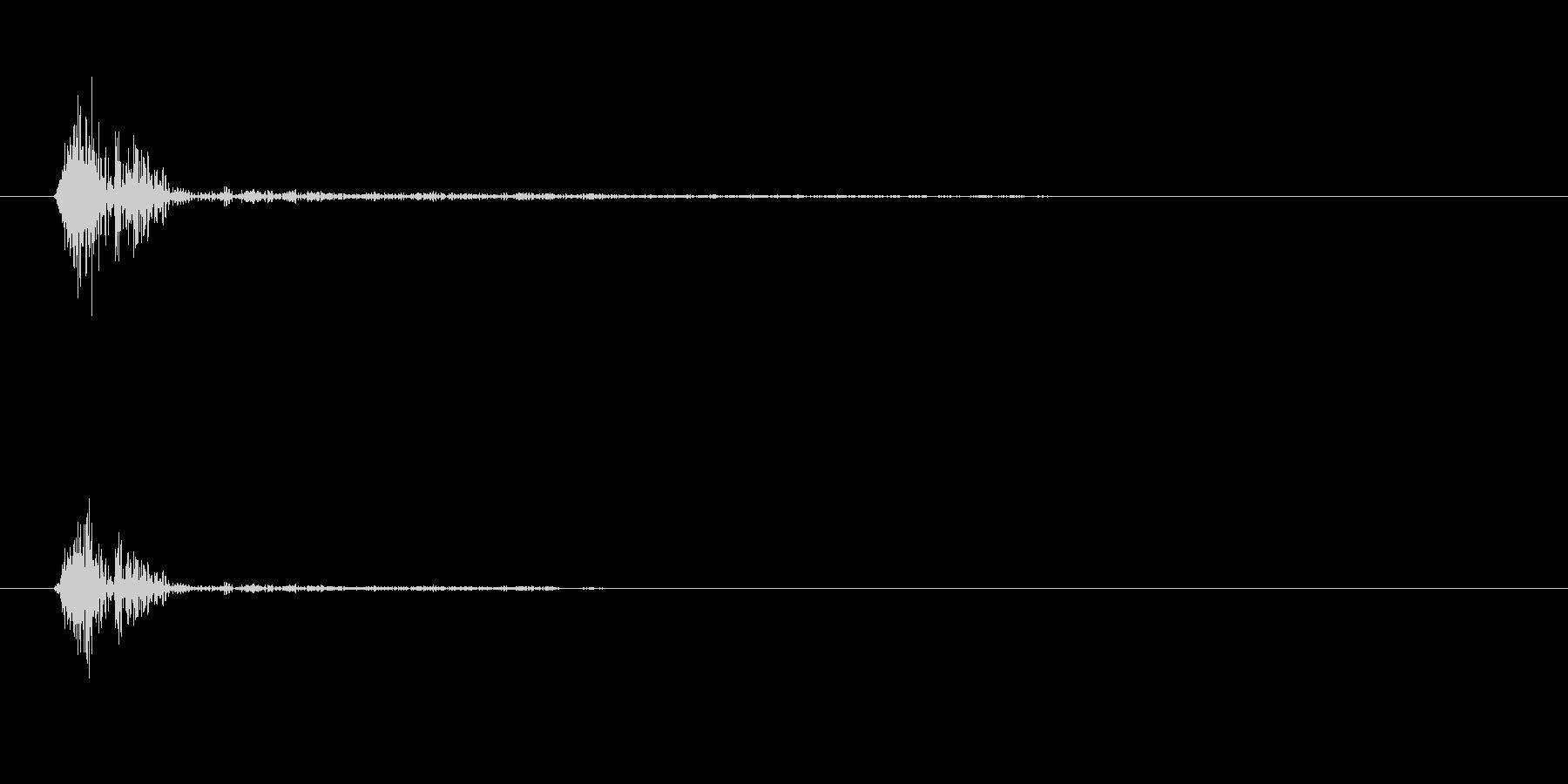 コッ(短く主張の少ない音)の未再生の波形