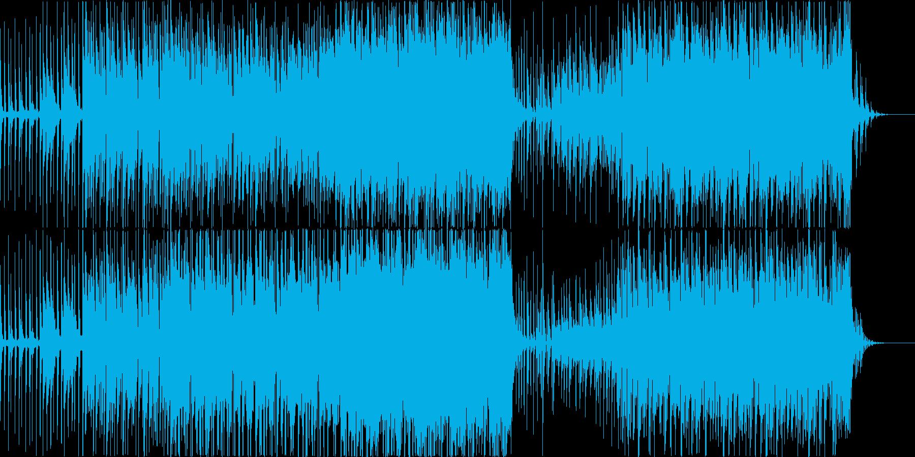 テクノ風ミドルロックの再生済みの波形