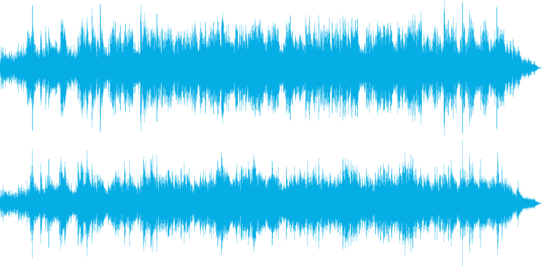 ピアノとストリングス明るく穏やか。映像等の再生済みの波形