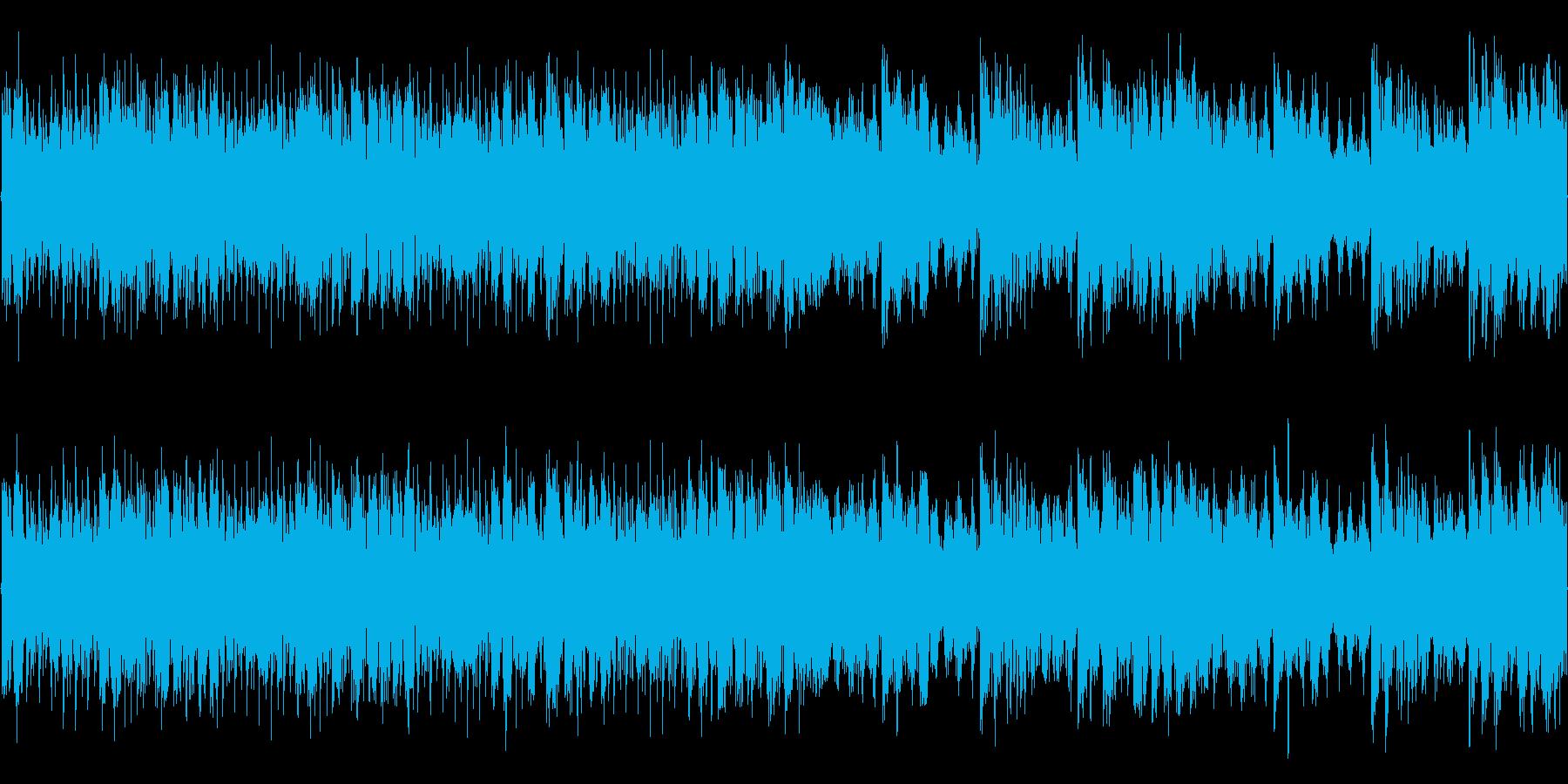 戦闘シーンを意識したストリングス中心の曲の再生済みの波形