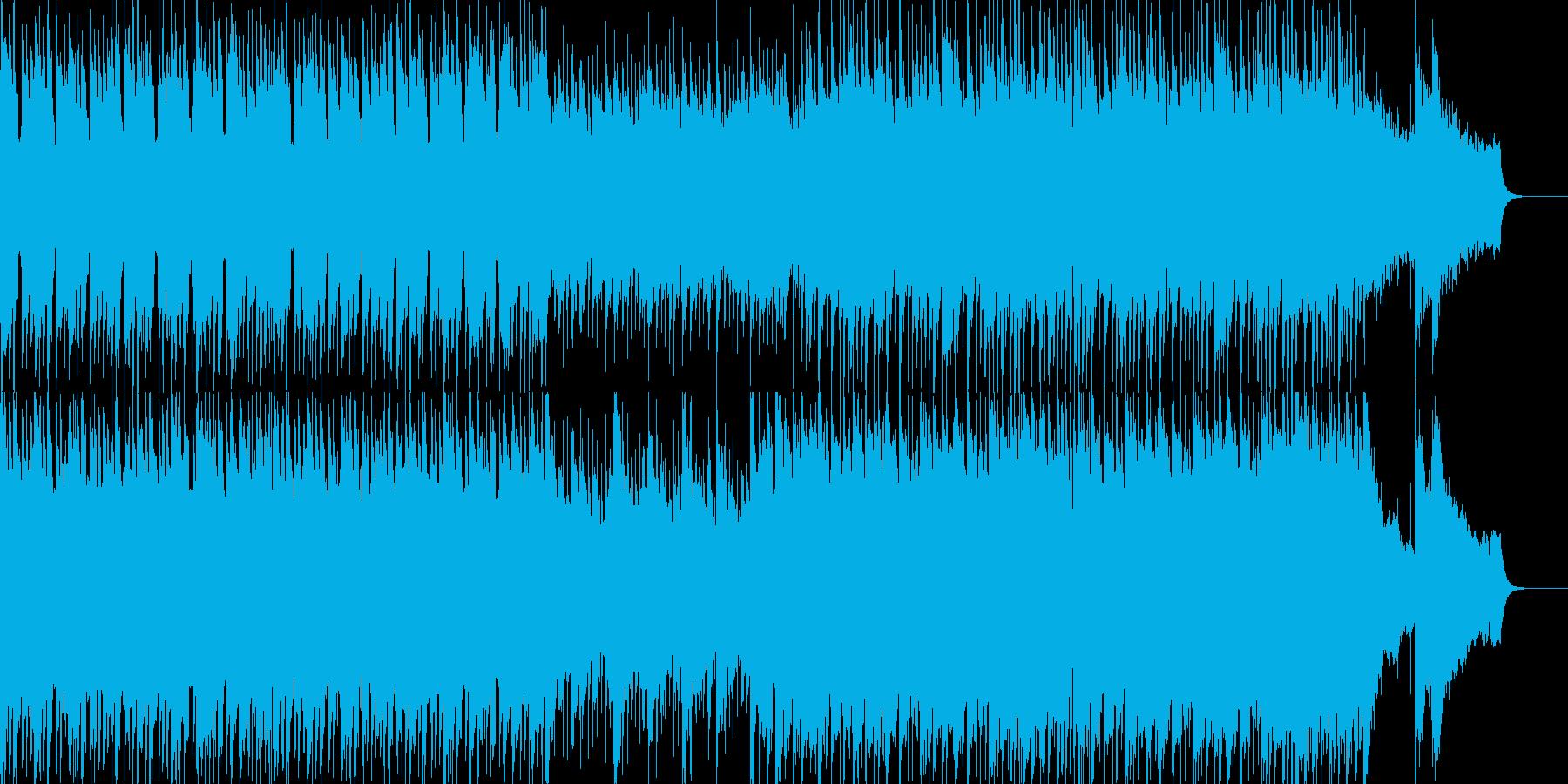 街でデートする場面などにマッチしたBGMの再生済みの波形