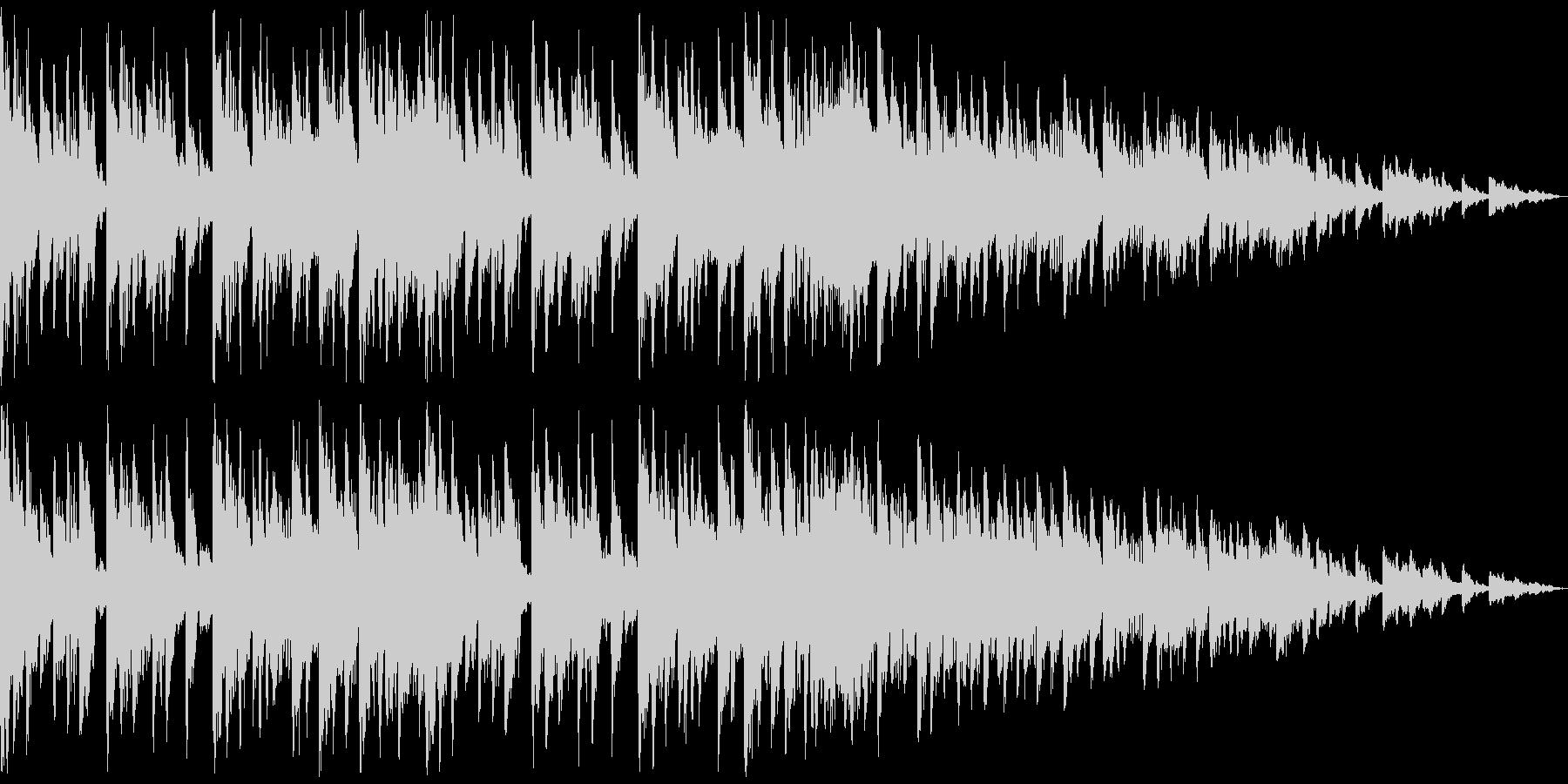 デジタルと生楽器を融合した日常的な曲の未再生の波形