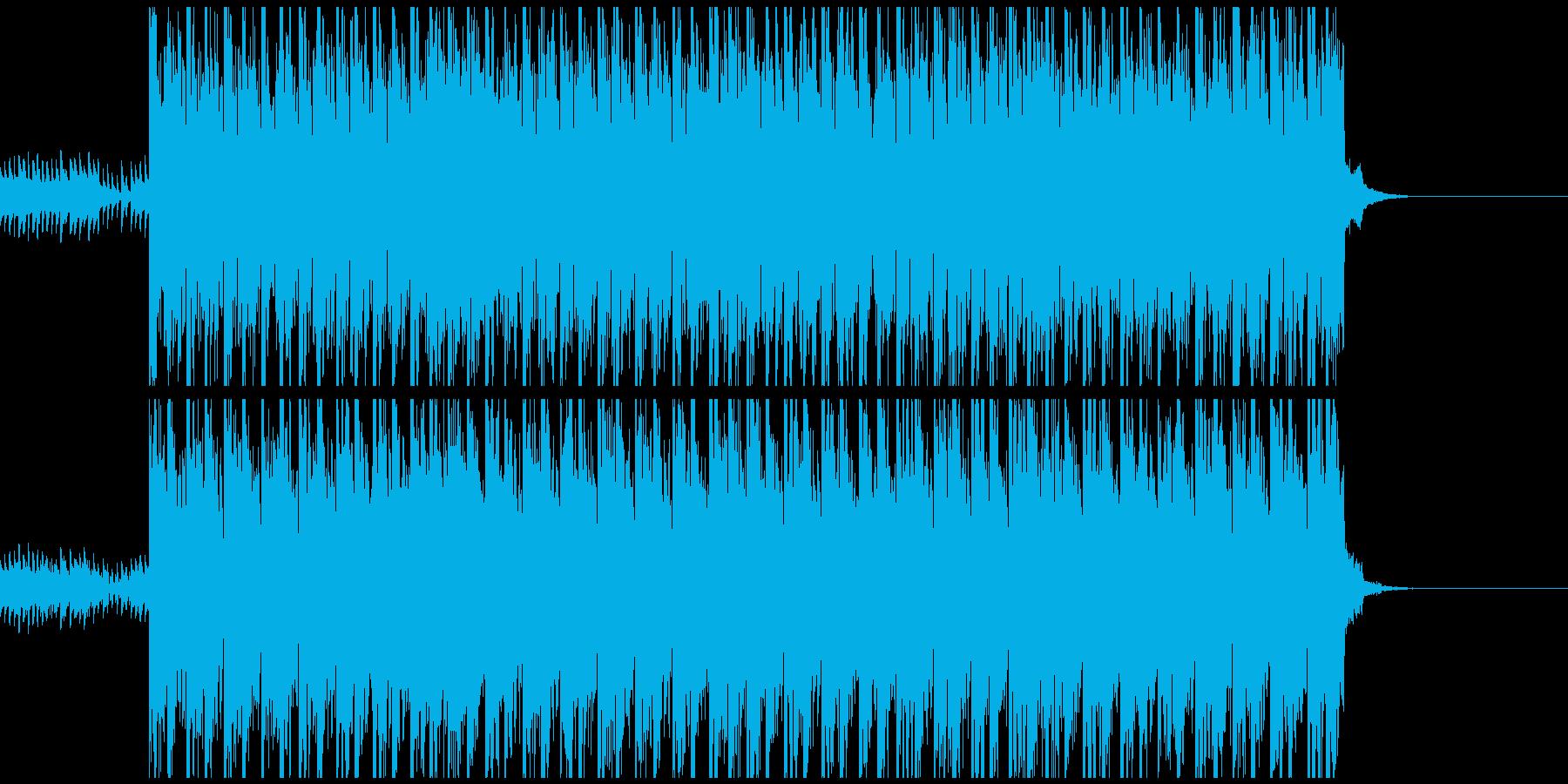 緊張感のあるカーチェイスの再生済みの波形