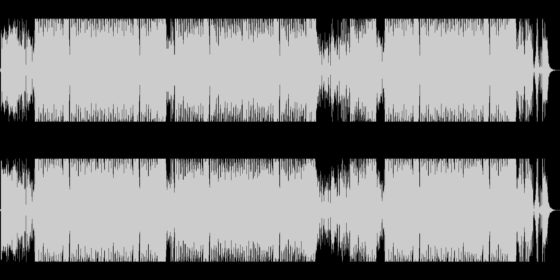 トロピカルでお洒落なEDMの未再生の波形