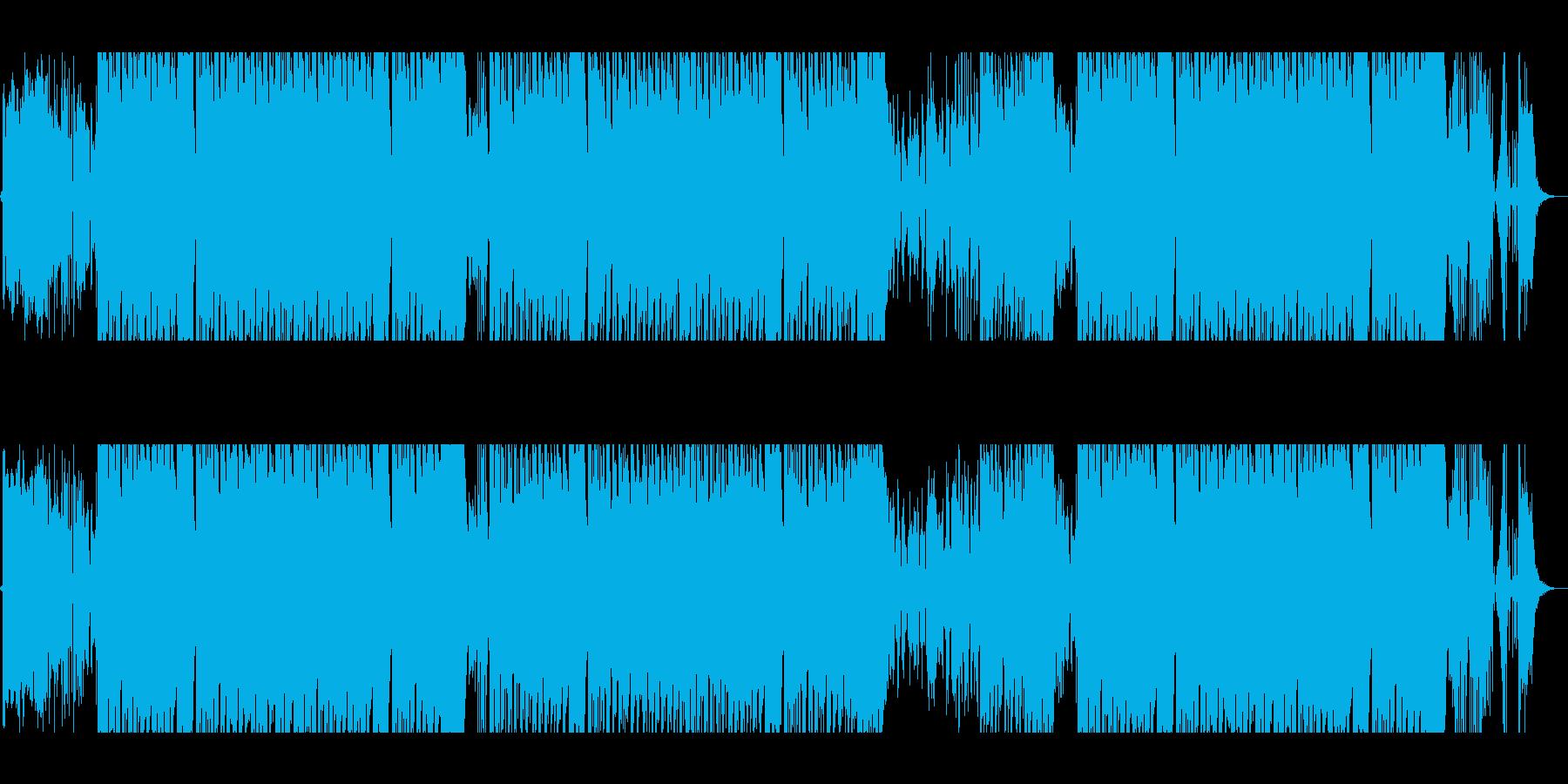 トロピカルでお洒落なEDMの再生済みの波形