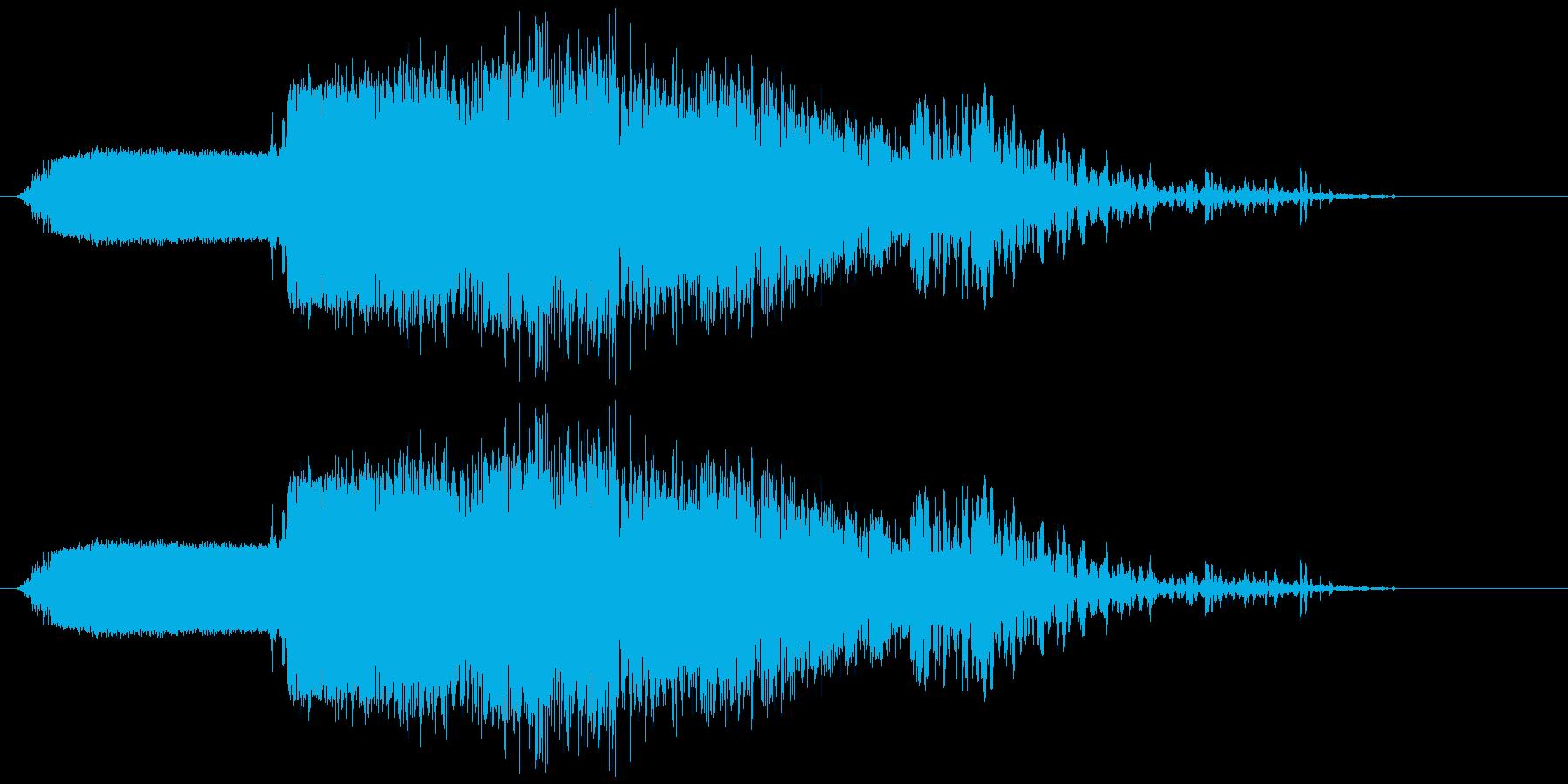 斬撃3【重い斧の様な斬撃】の再生済みの波形
