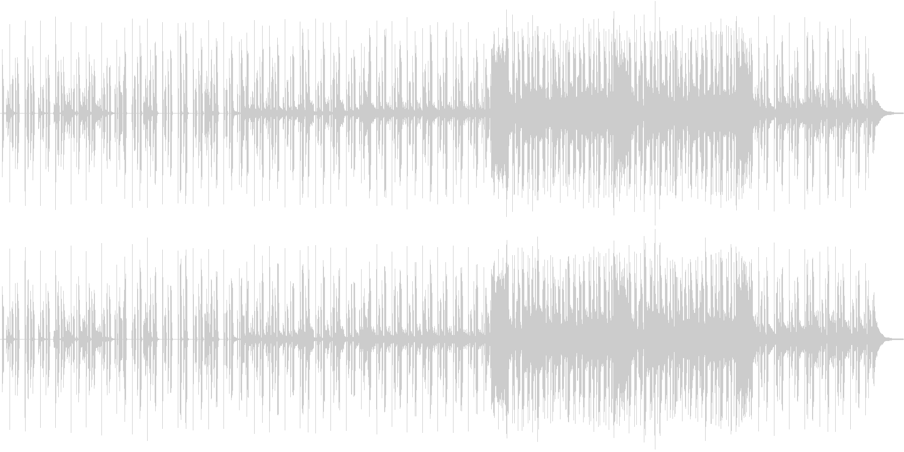 しっとりとしたRandB風の楽曲です。の未再生の波形