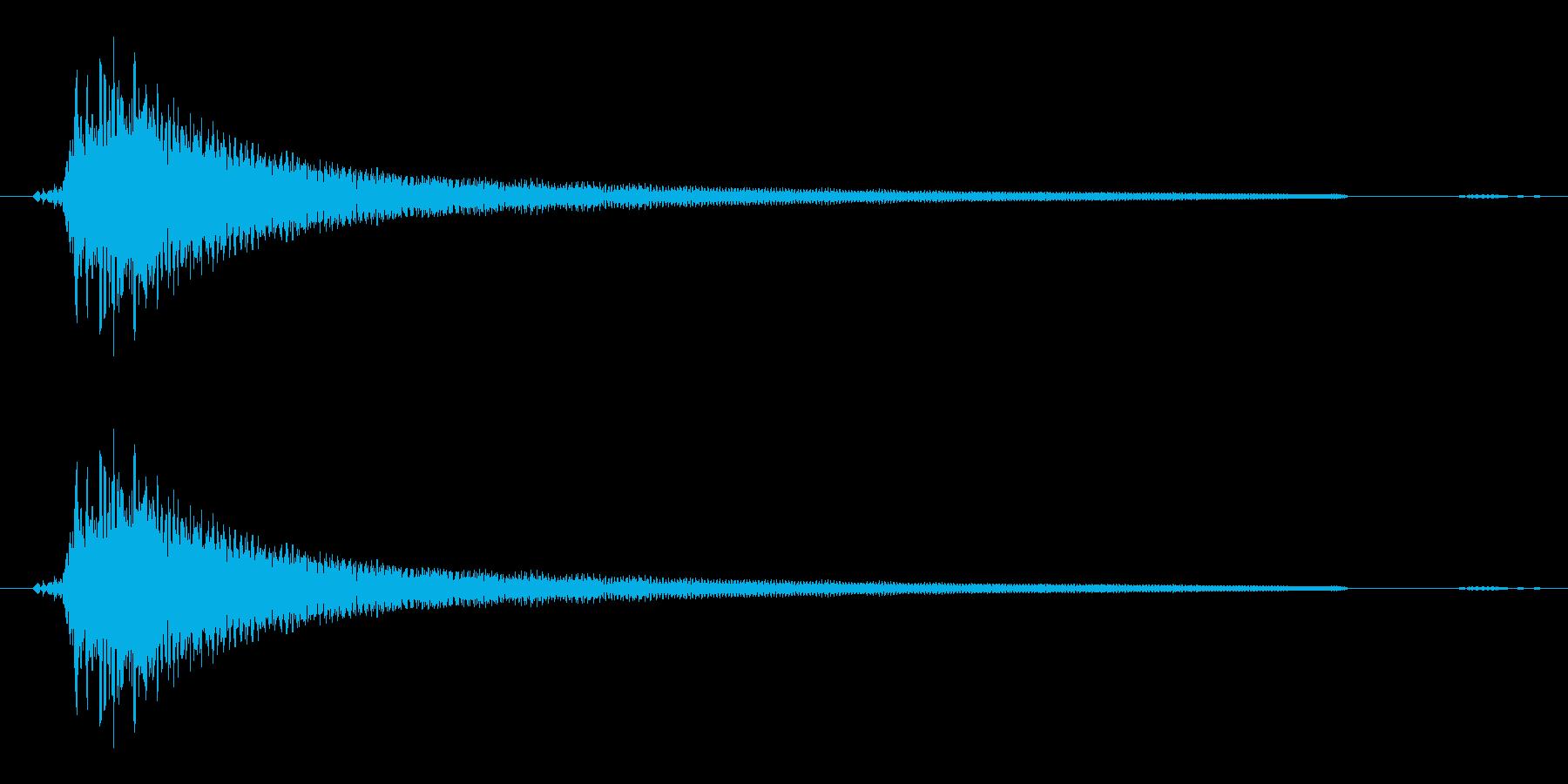 アコギ不協和音(適当に抑えて弾いた音)の再生済みの波形