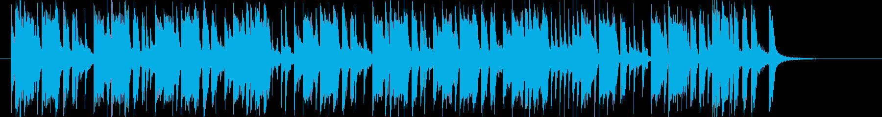 アップテンポな明るいポップスのジングルの再生済みの波形
