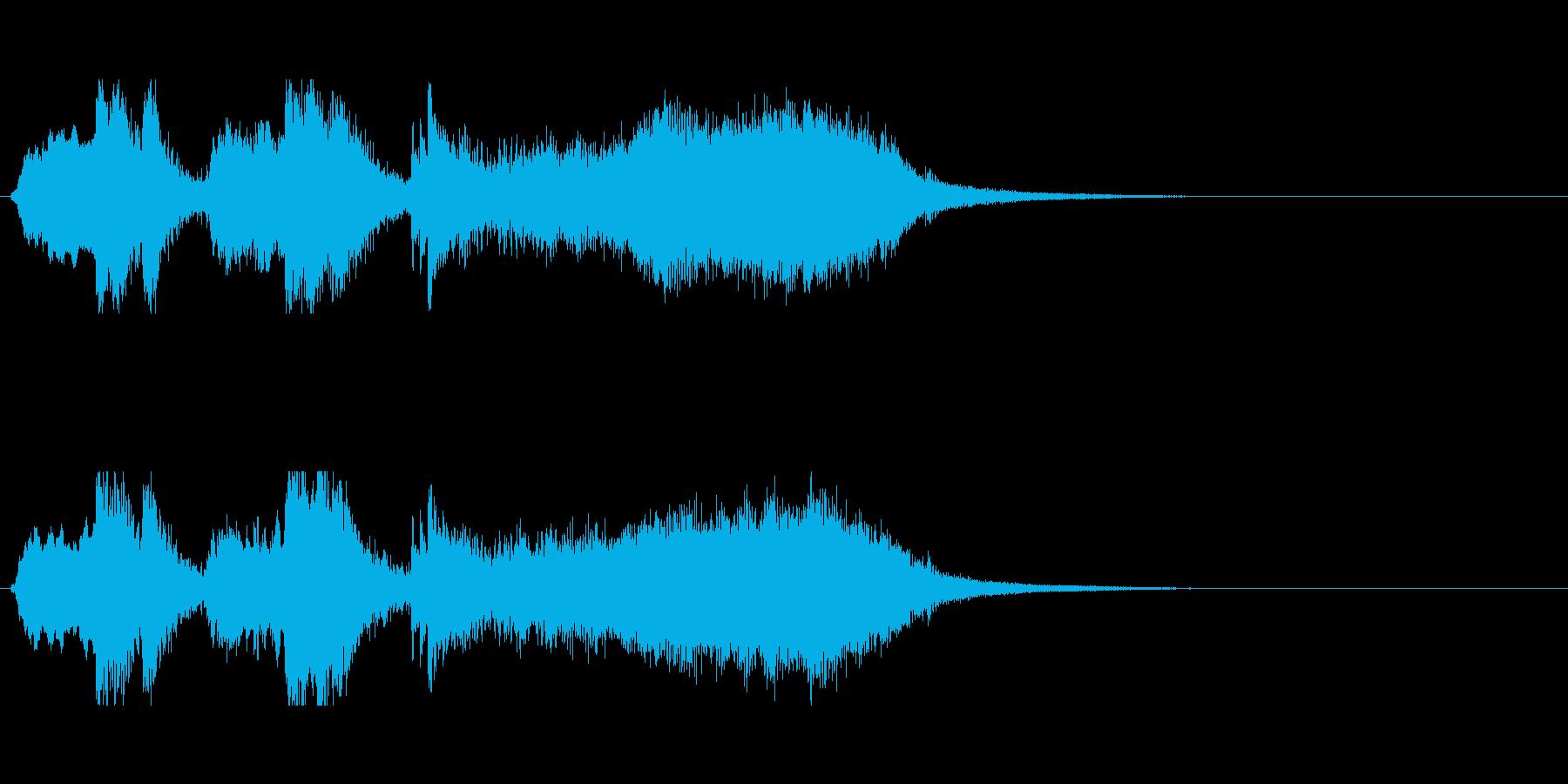 オーケストラ系ジングル01の再生済みの波形