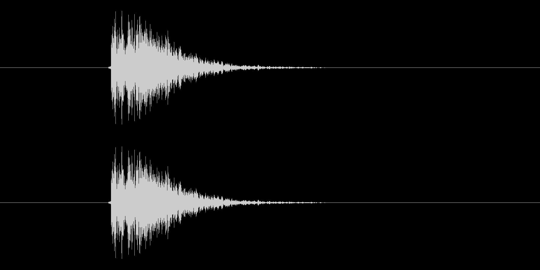 ドシューン(決定音、ドラム)の未再生の波形