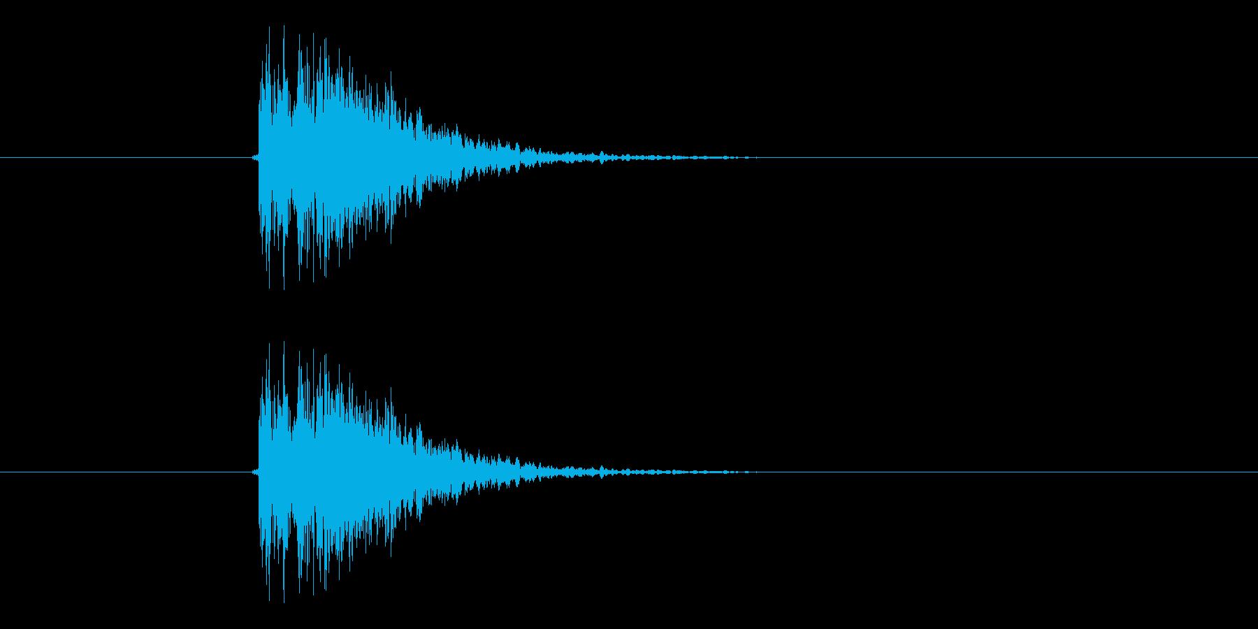 ドシューン(決定音、ドラム)の再生済みの波形