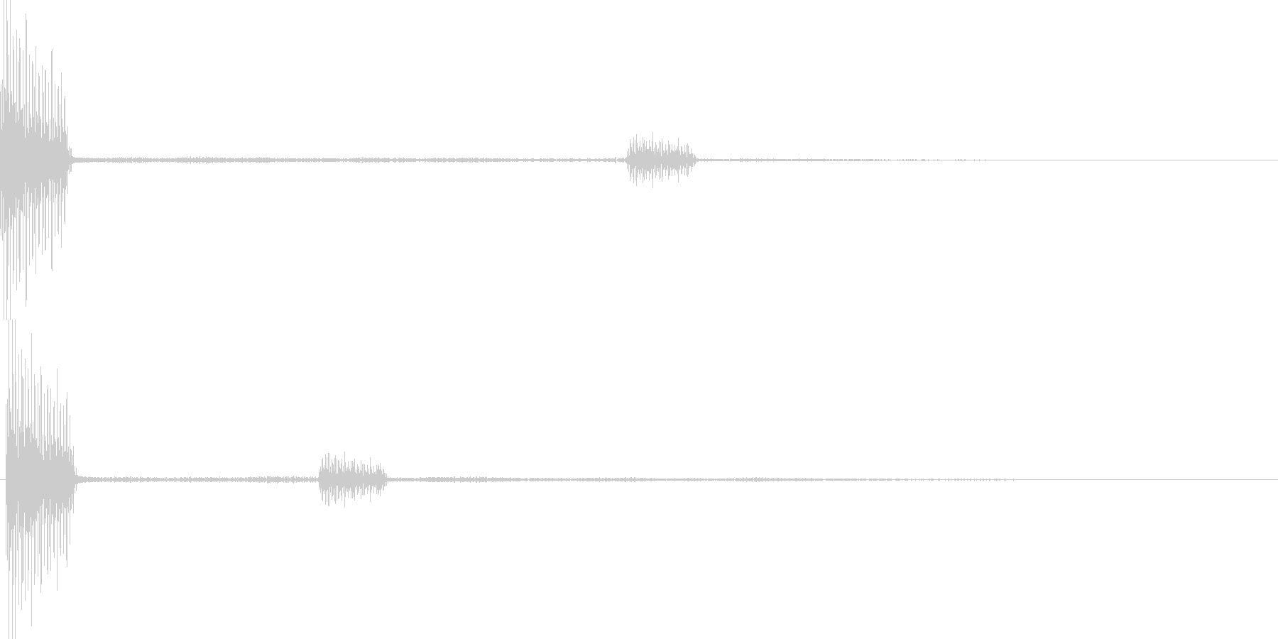 ピロ(カーソル移動 表示 決定)の未再生の波形