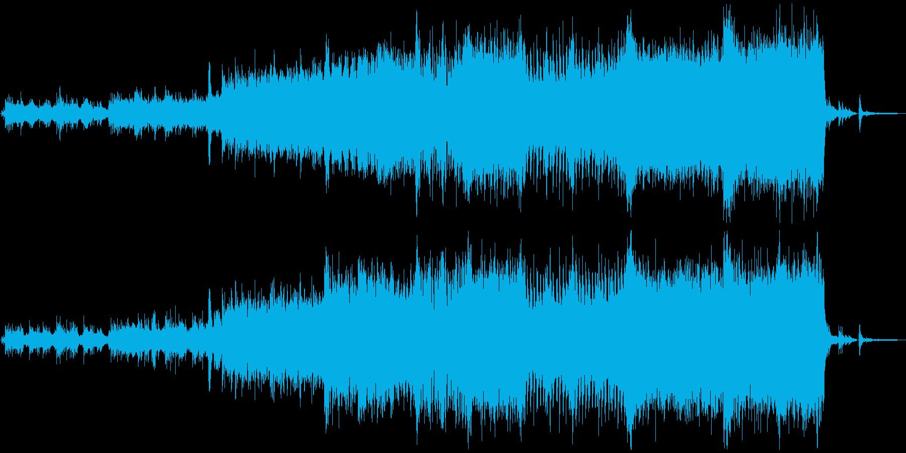 壮大でドラマティックな和風なオケBGMの再生済みの波形