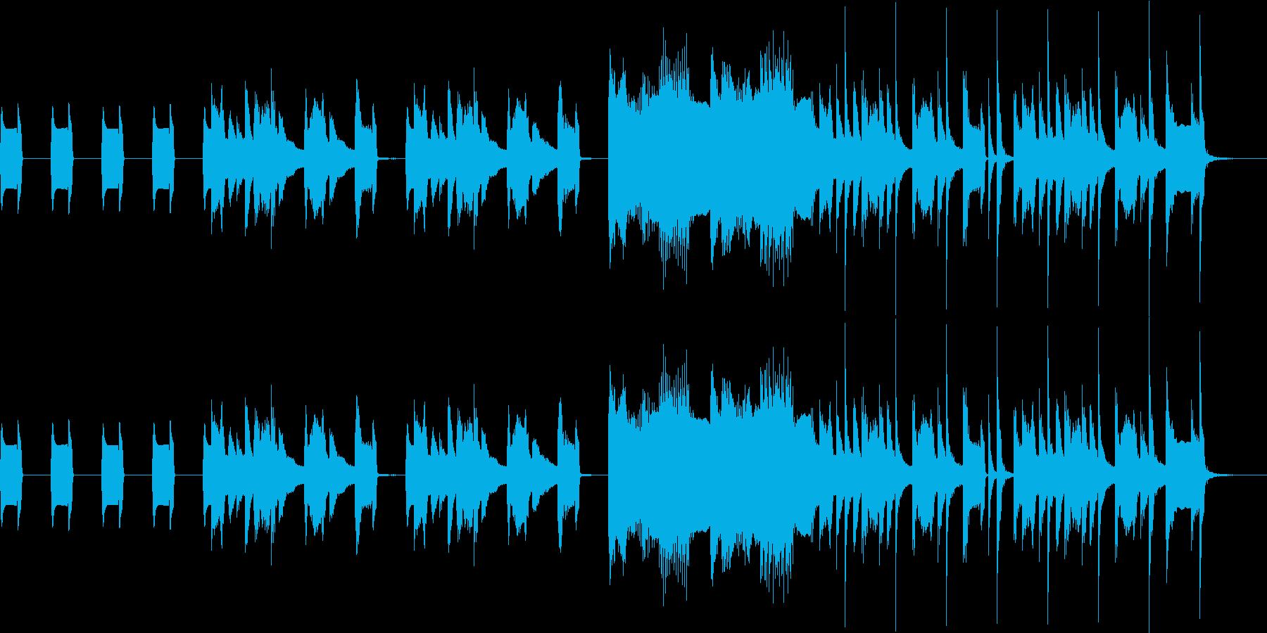 ほのぼのとしたピアノ曲の再生済みの波形