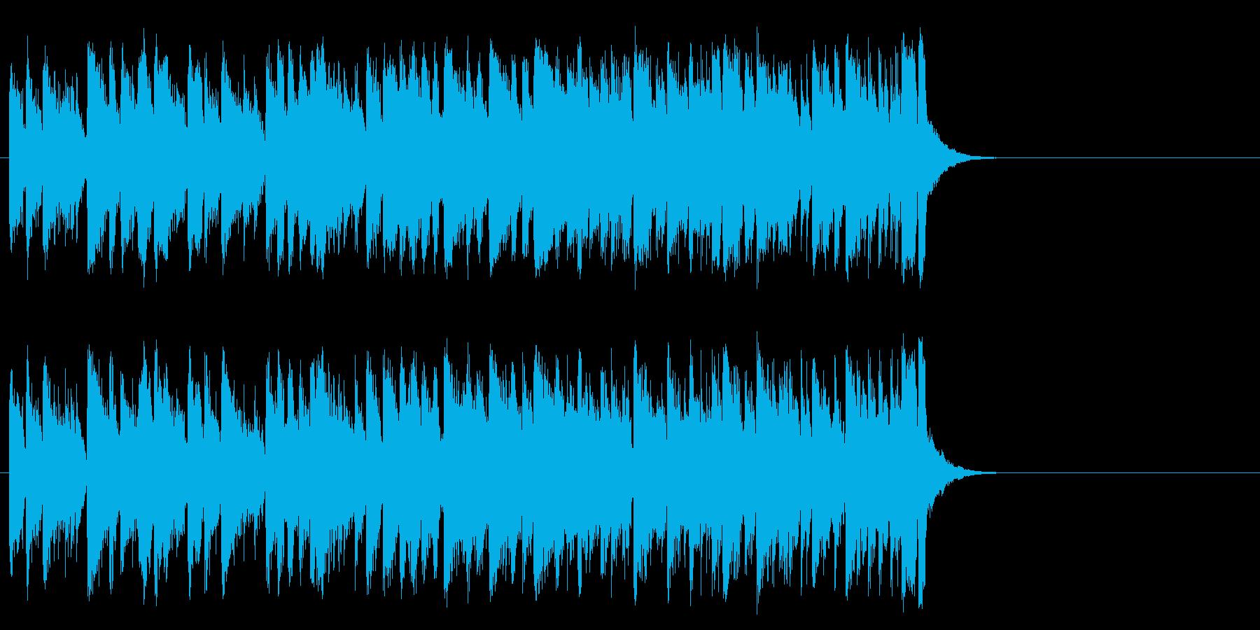 爽快なフュージョン(サビ)の再生済みの波形