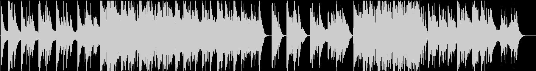 ピアノが印象的なインスタレーション音楽2の未再生の波形