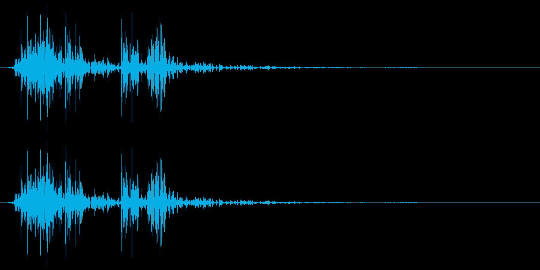 床がきしむ(軋む) ヘコッの再生済みの波形