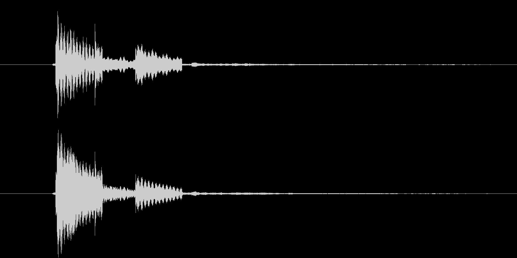 カーソルボタン(決定音)キラリの未再生の波形