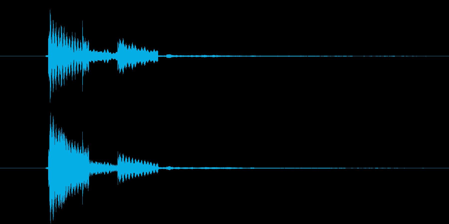 カーソルボタン(決定音)キラリの再生済みの波形