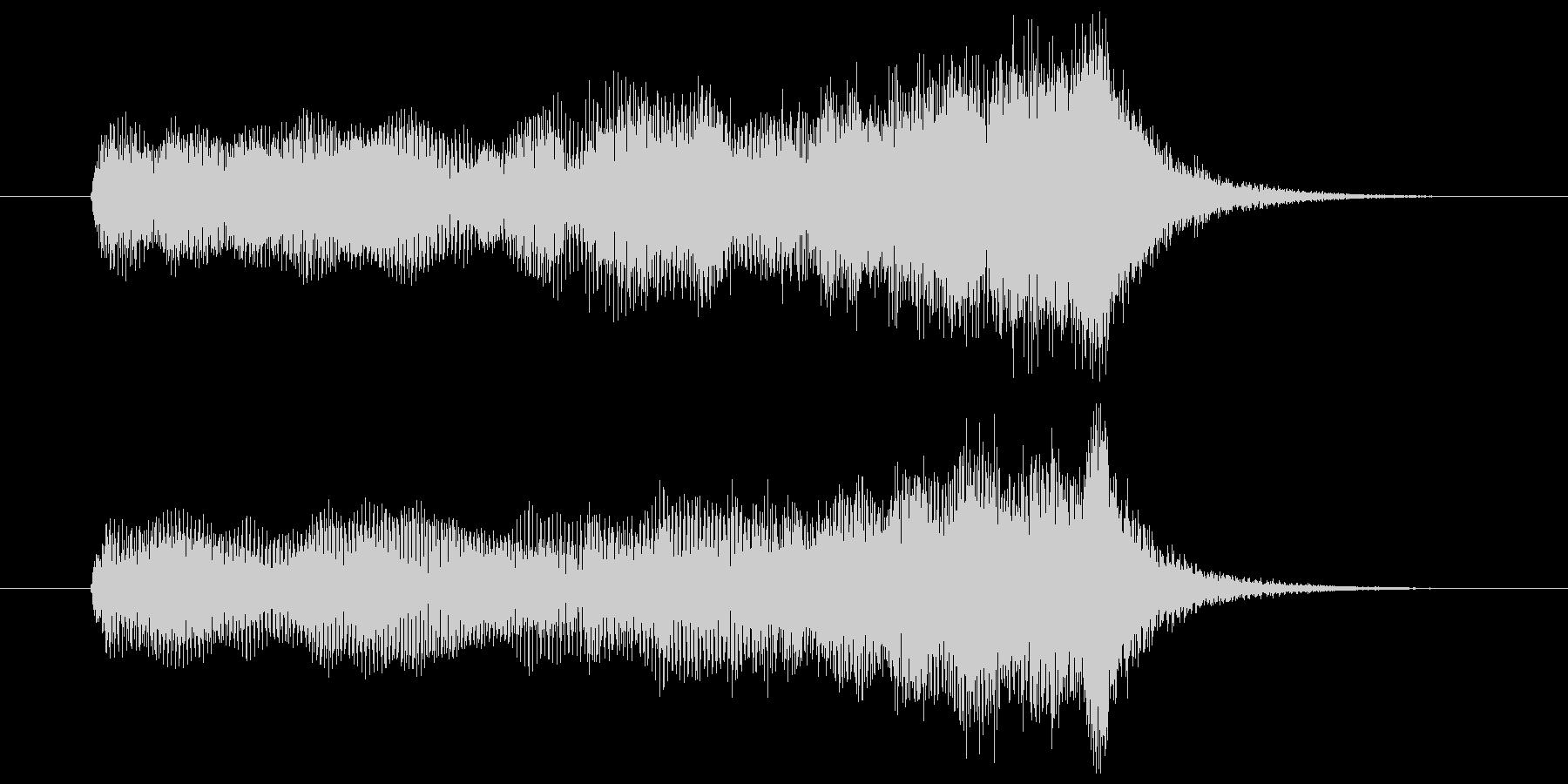明るくキラキラ感のあるシンセサウンドの未再生の波形