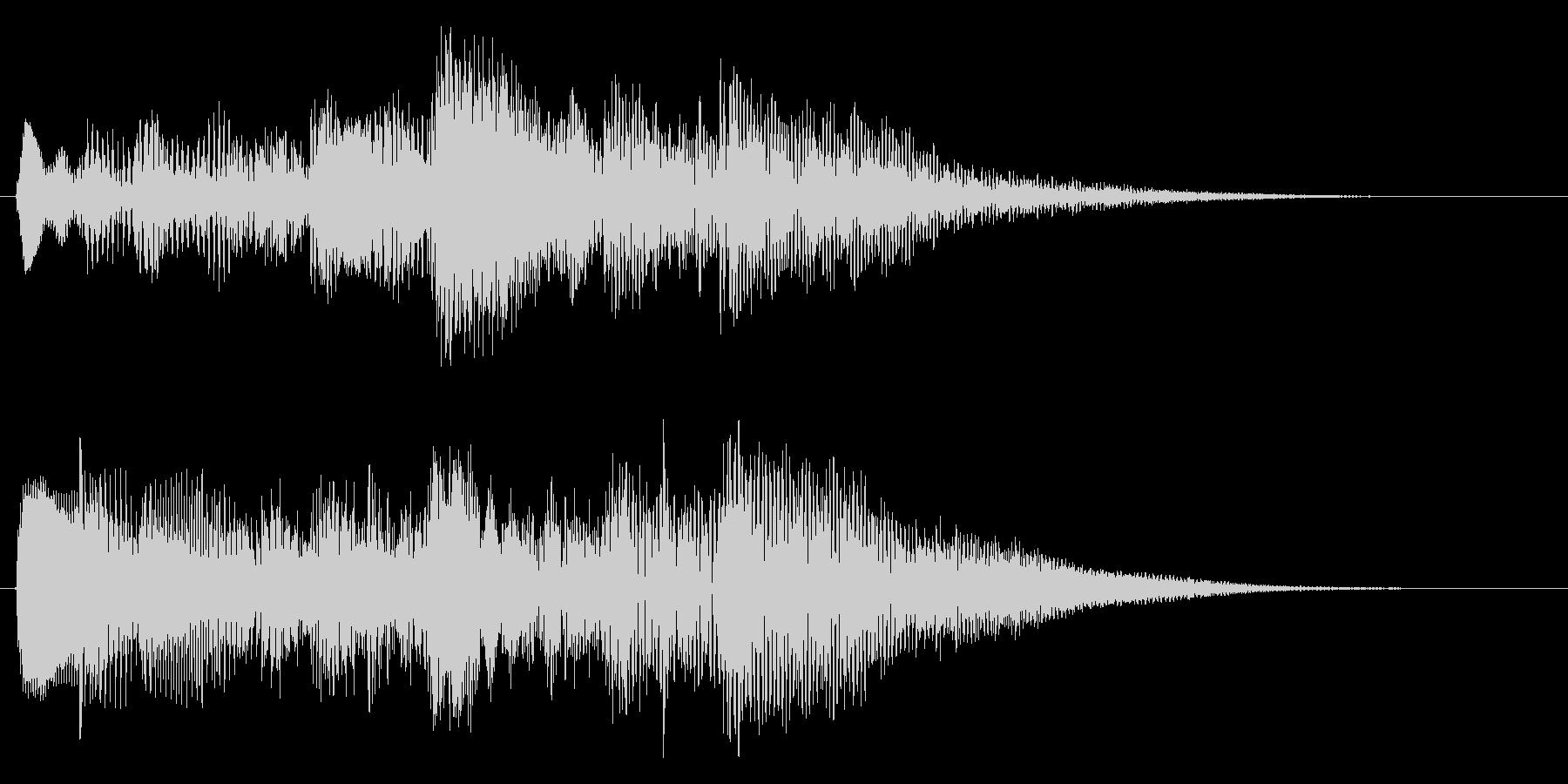 ハープのアルペジオ クリア 場面転換の未再生の波形