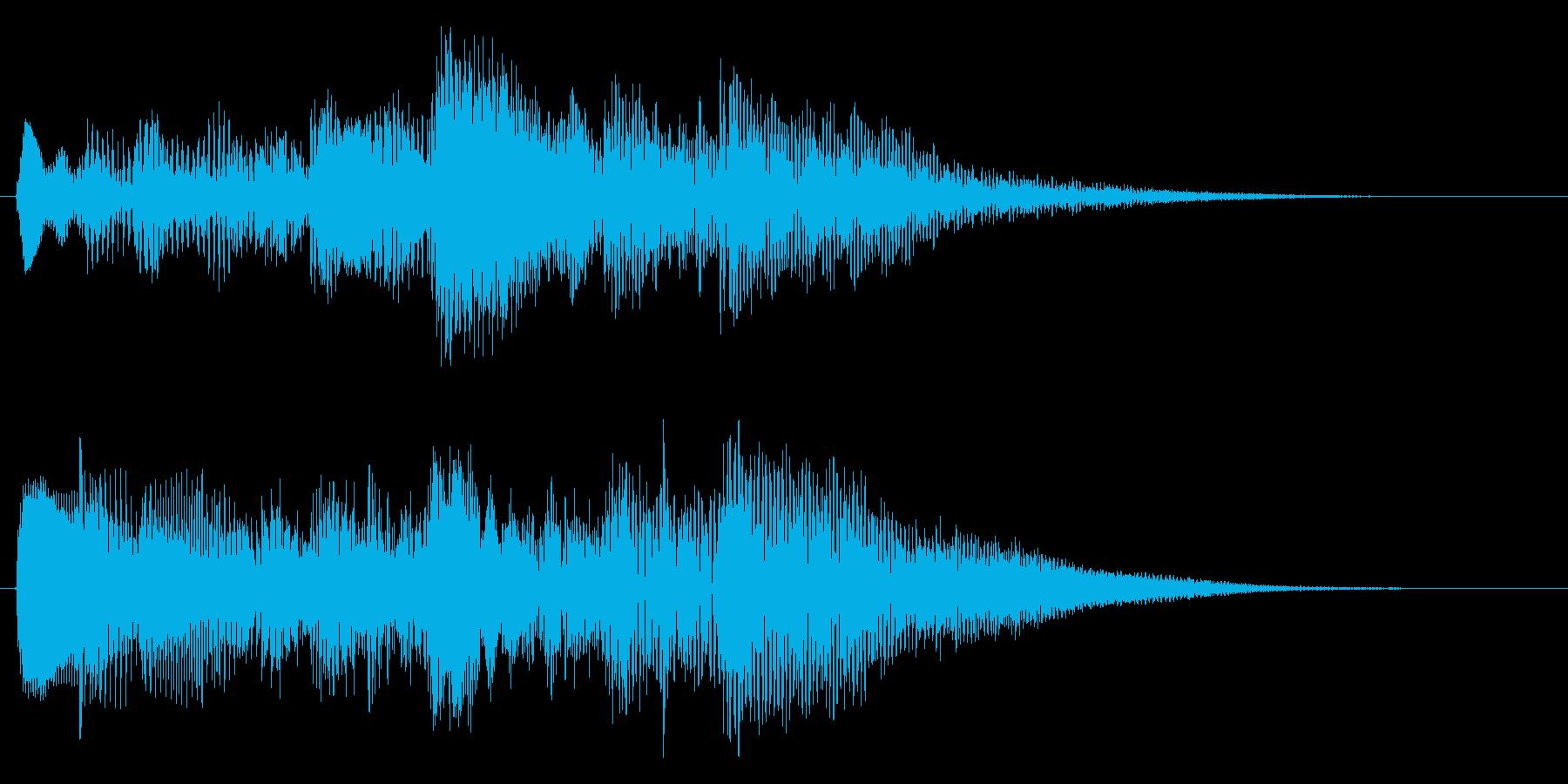 ハープのアルペジオ クリア 場面転換の再生済みの波形