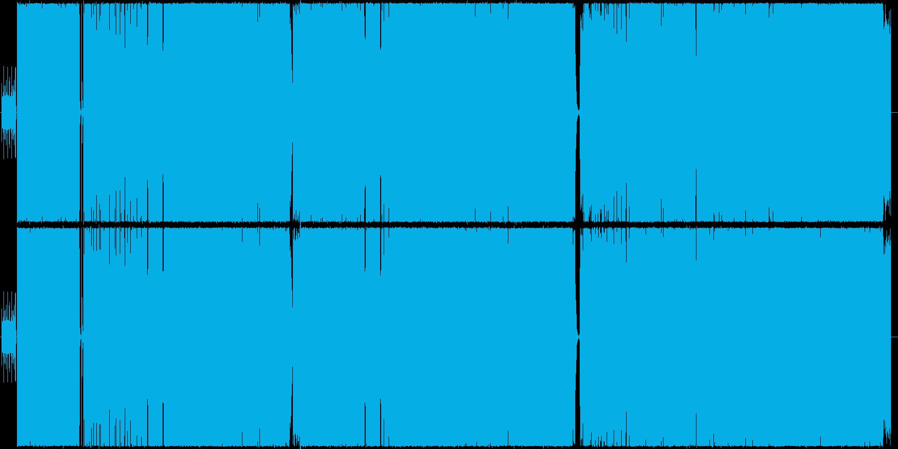 女性ボーカルによるヘビメタ風楽曲の再生済みの波形