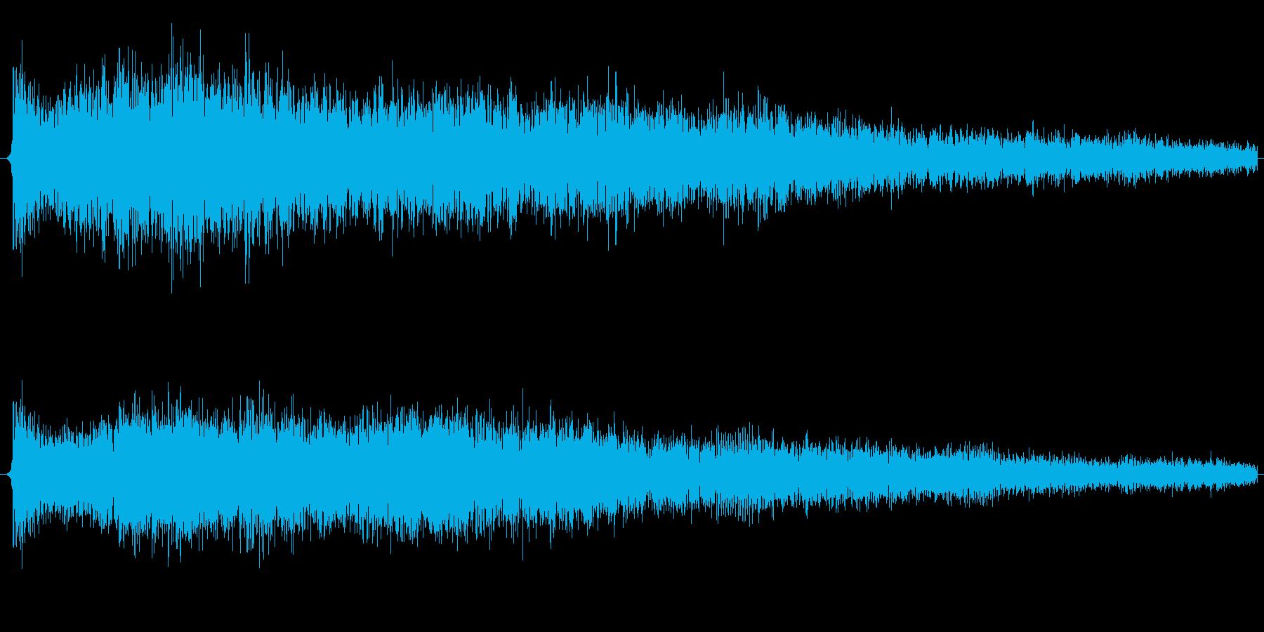ゲージが上がるような音です。の再生済みの波形