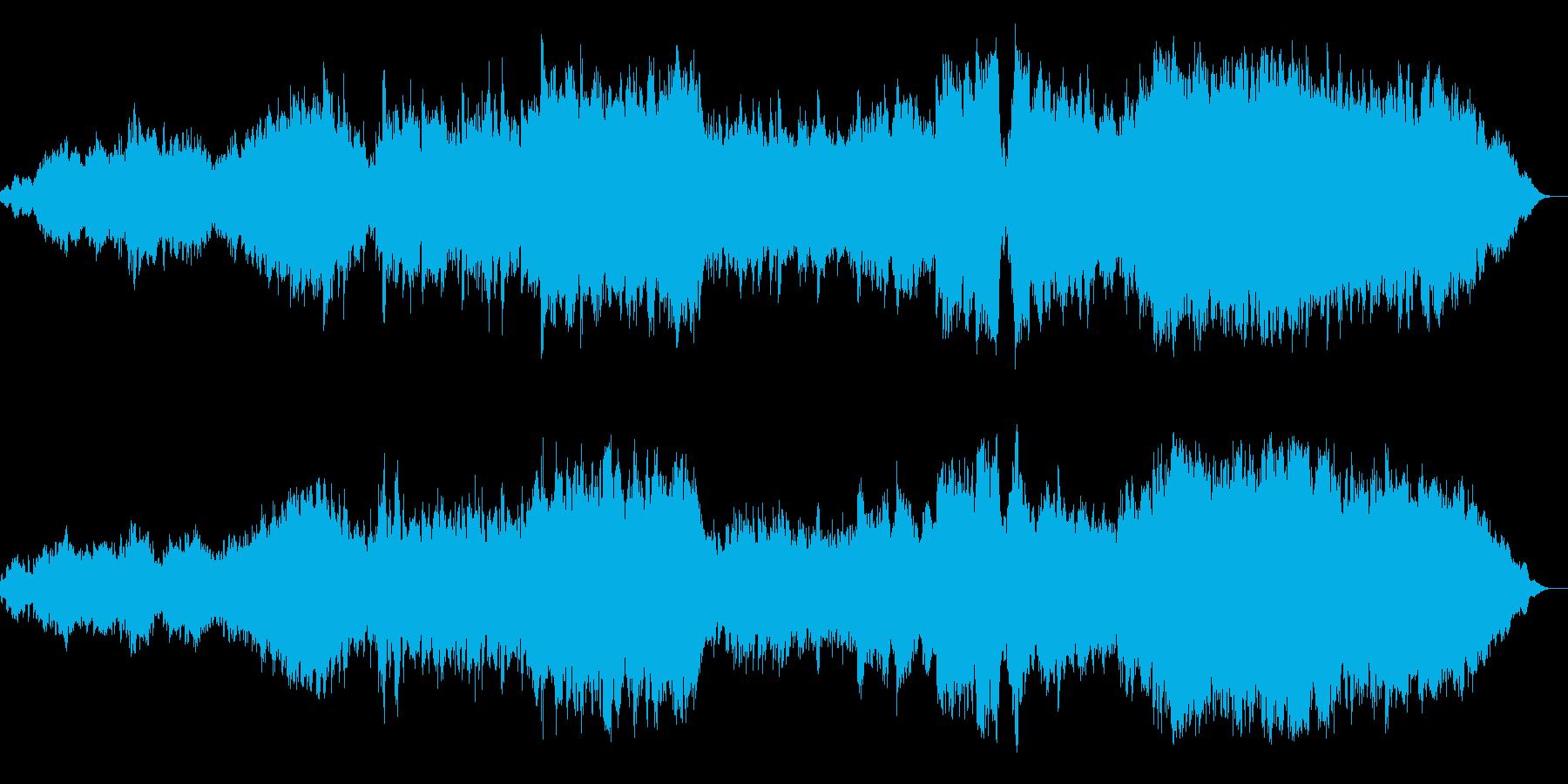 感動的で壮大なオーケストラの再生済みの波形