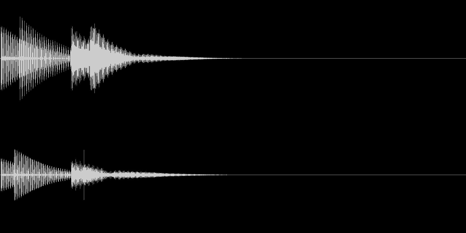 ティコ(クリック_選択決定_02)の未再生の波形