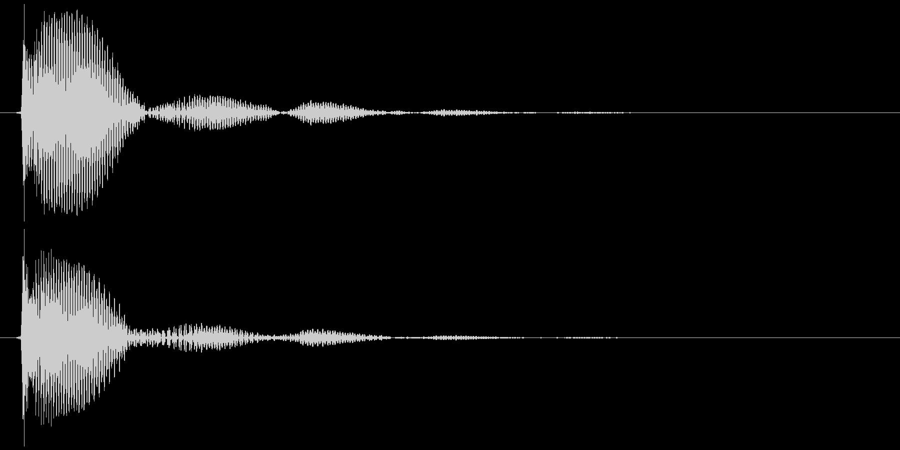 テレビ/ブラウン管 点灯カッ、ブオオン②の未再生の波形