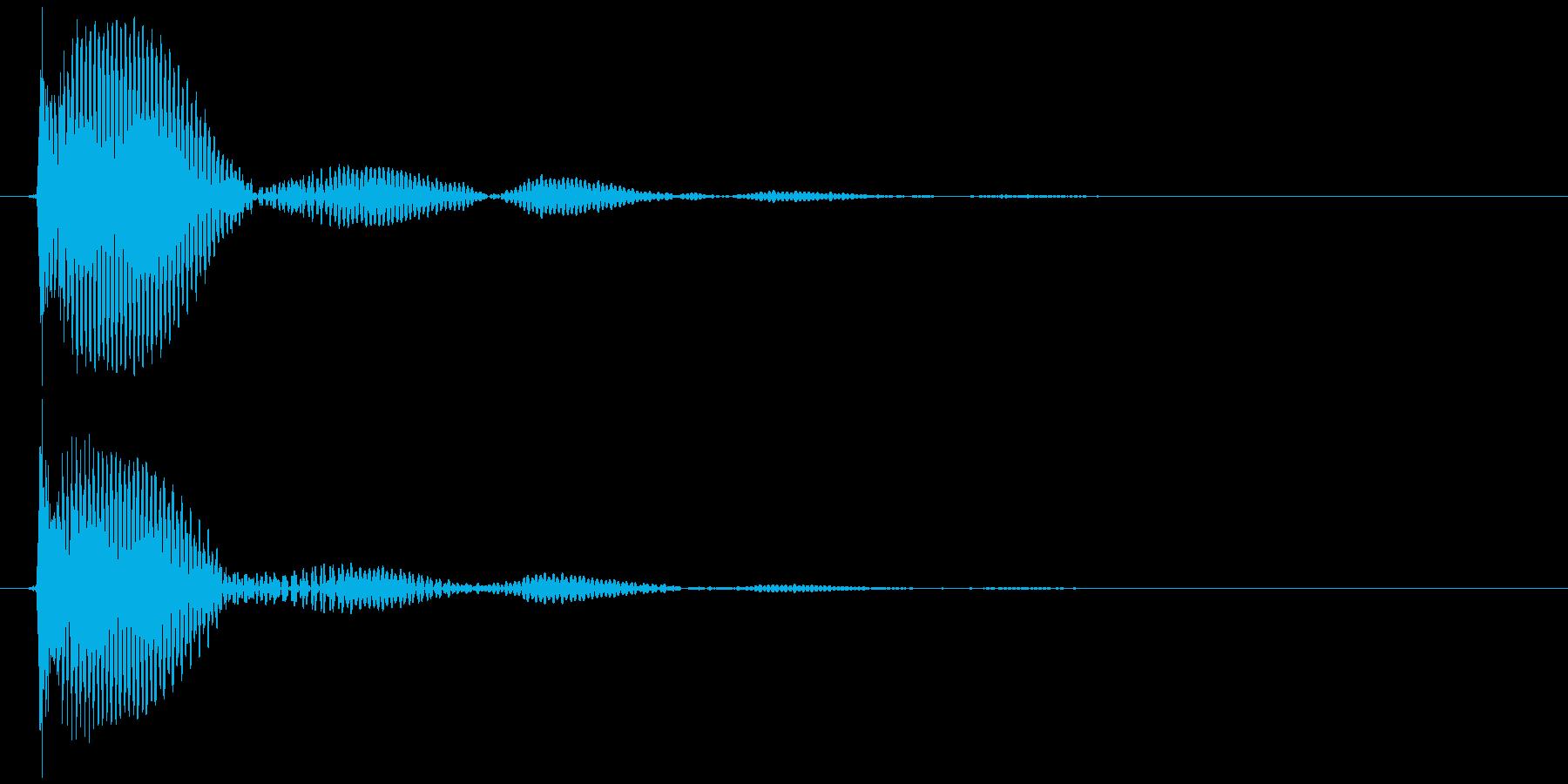 テレビ/ブラウン管 点灯カッ、ブオオン②の再生済みの波形