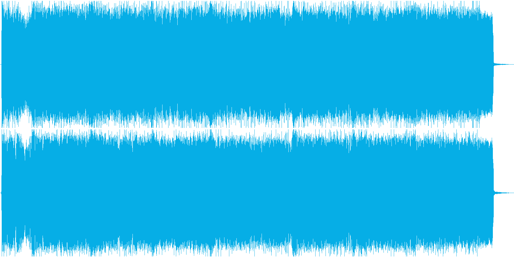 ギターとシンセのプログレ風戦闘曲の再生済みの波形